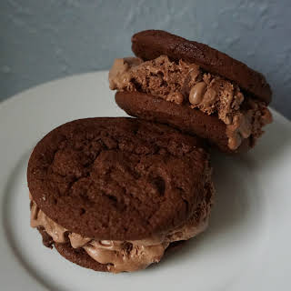 Gourmet Chocolately Ice Cream Sandwich.