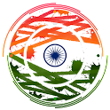 Indian flag clock icon