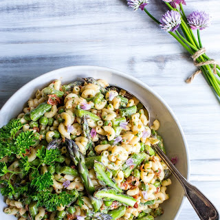 Lemon-Dijon Asparagus and Pea Macaroni Salad.