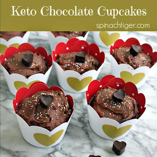 Low Carb Chocolate Cupcake.