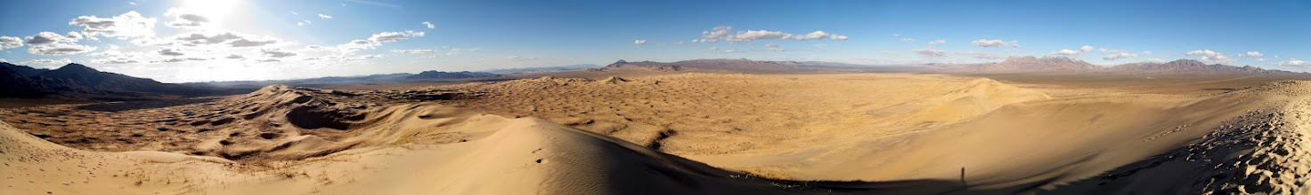 """Photo: Panorama (8028x1200 pixels) from the top of the Dune. Use the """"Zoom In"""" button on top of the picture to enjoy."""