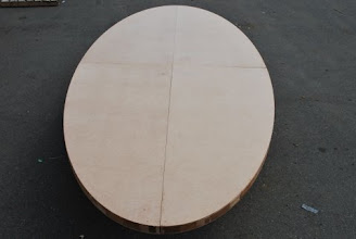 Photo: elliptical are expensive, but you can make your own custom elliptical table that is stronger and lighter using our torsion box honeycomb core