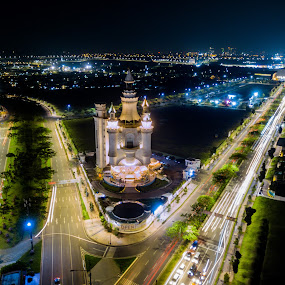 Education Building by Irfan Firdaus - City,  Street & Park  Night ( travel photography, cityscapes, cityscape, building, low light )
