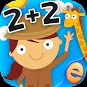 动物数学游戏的孩子2 + 2 icon
