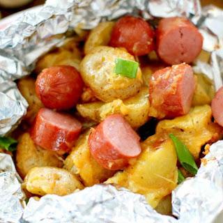 Campfire Hot Dog & Potato Packets Recipe