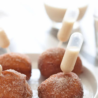 Coquito Spiked Donut Holes