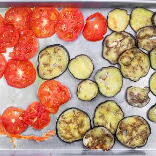 Roasted Eggplant Caprese Salad