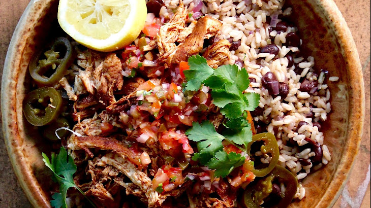 Guilt-free Chicken Burrito Bowl Recipe | Yummly
