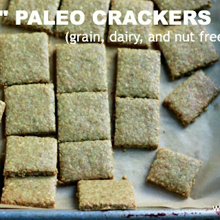 """Cheesy"" Paleo Crackers (Dairy and Nut Free) Recipe"