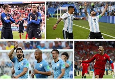 Mondial 2018 : Les huitièmes débutent ce samedi, la France affronte l'Argentine tandis que le Portugal de Ronaldo sera opposé à l'Uruguay de Suarez