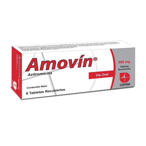 Azitromicina Amovin 500Mg X 6 Tabletas Cofasa