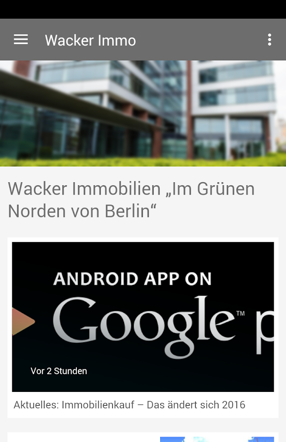 Wacker Immobilien- screenshot