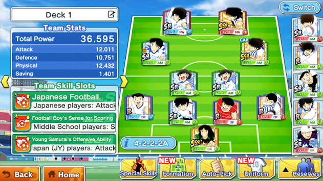 Captain Tsubasa: Dream Team APK screenshot thumbnail 7