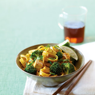 Thai Curried Noodles with Broccoli and Tofu