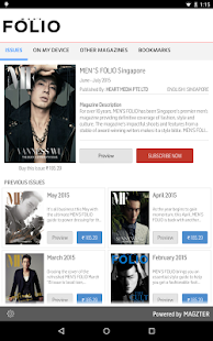 MEN 'S FOLIO Singapore- screenshot thumbnail