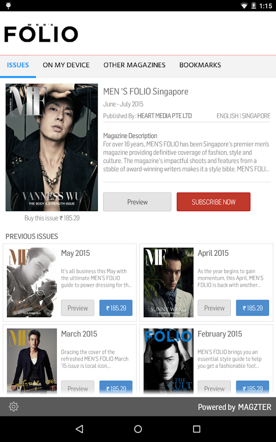 MEN 'S FOLIO Singapore- screenshot