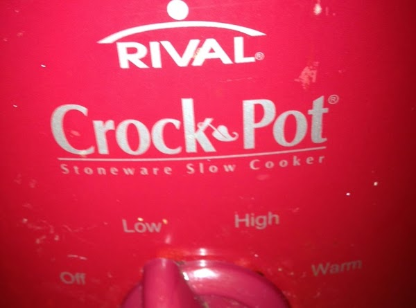 Pour Peach puree into crock pot. Make sure you keep it cover to prevent...