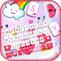 Cute Pink Doodle Keyboard Theme icon
