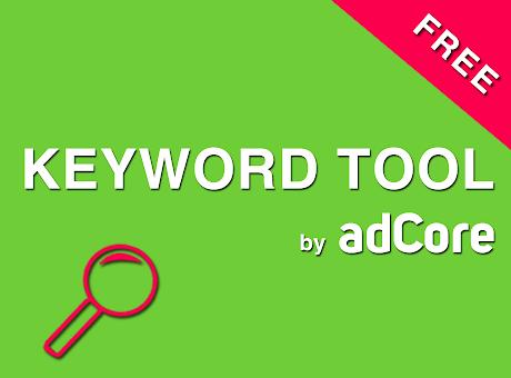 FREE Keyword Tool by adCore
