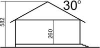 Domek Sosnowy szkielet drewniany 008 DE RM - Przekrój