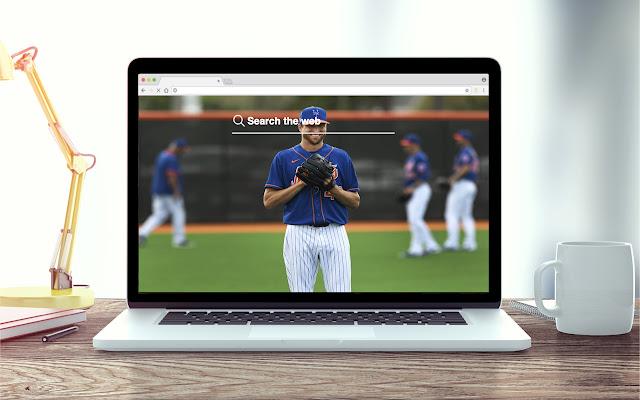 Jacob DeGrom New Tab Baseball Theme
