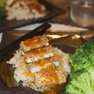Sesame Orange Tofu.