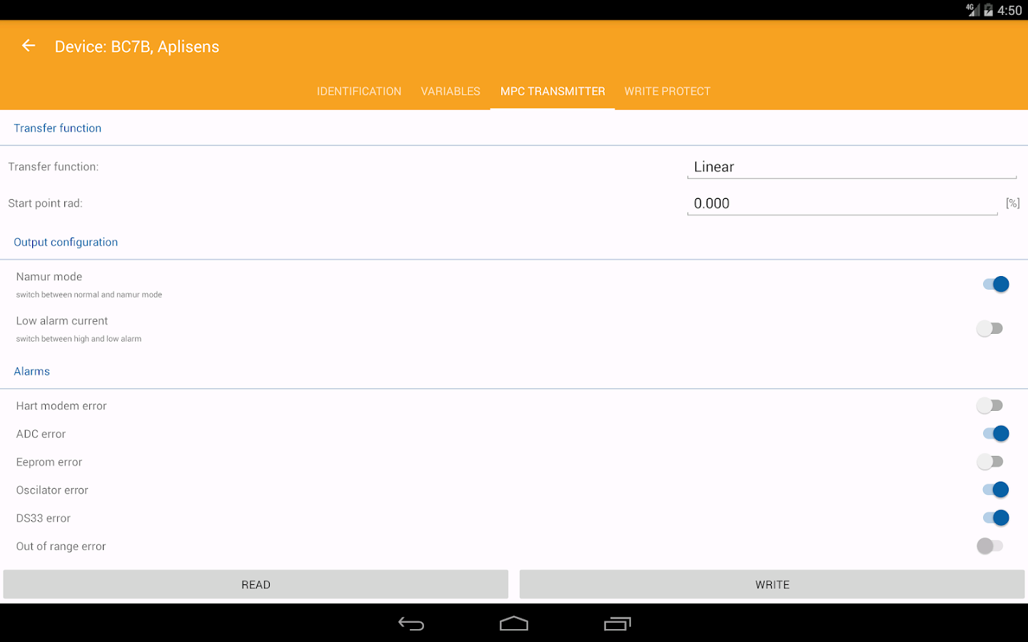Aplisens Mobile Configurator- screenshot