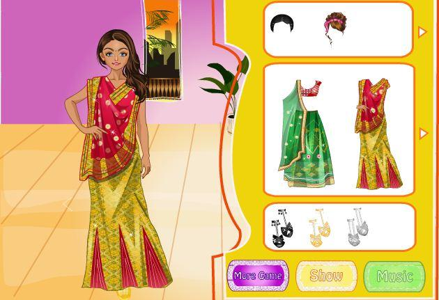android Indian Bride Dress Up Makeover Screenshot 2