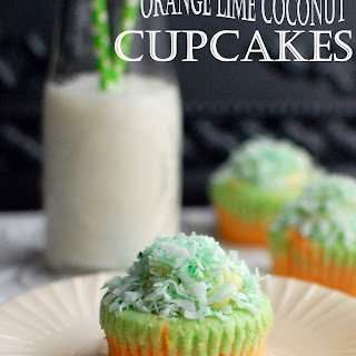 Orange Lime Coconut Cupcakes