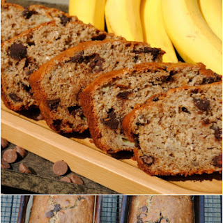 Oatmeal Banana Chocolate Chip Bread