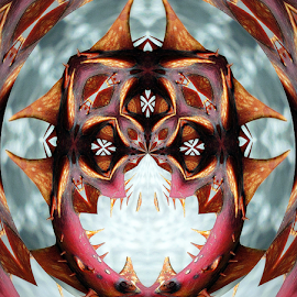 IT Comes by Tina Dare - Digital Art Abstract ( face, digital manipulation, thorns, fantasy, horror, science fiction, abstract, monster )