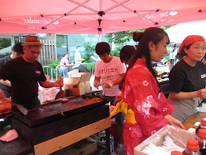 Photo: Left: Kazu Aotani of Snappy Sushi/Snappy Ramen prepares yakisoba
