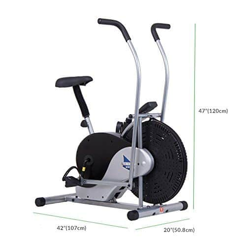 Body Rider Exercise Upright Fan Bike with Adjustable Seat