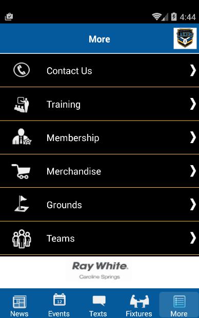 Скриншот Caroline Springs Football Club