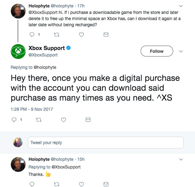 twitter support example