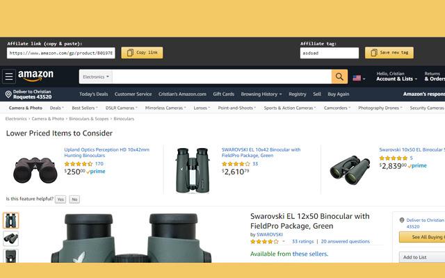 Amazon Affiliates Bar
