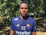 Mamelodi Sundowns striker Bonginkosi Ntuli pictured in the colours of Swedish side Djurdardens, where he is on trial hoping to win a contract, on August 7 2018.
