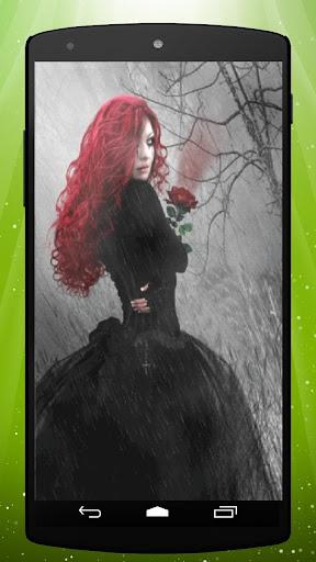 Rose Goth Girl Live Wallpaper