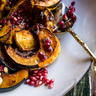 Brown Sugar and Pineapple Roasted Acorn Squash with Spiced Brown Butter..