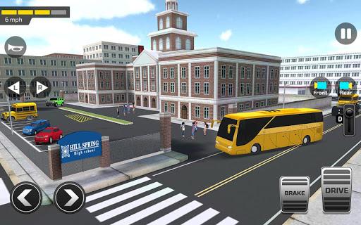 Super High School Bus Driving Simulator 3D - 2020 apkdebit screenshots 8