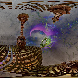 Hell Bent For Shape by Rick Eskridge - Illustration Abstract & Patterns ( abstract, jwildfire, mb3d, fractal, twisted brush )