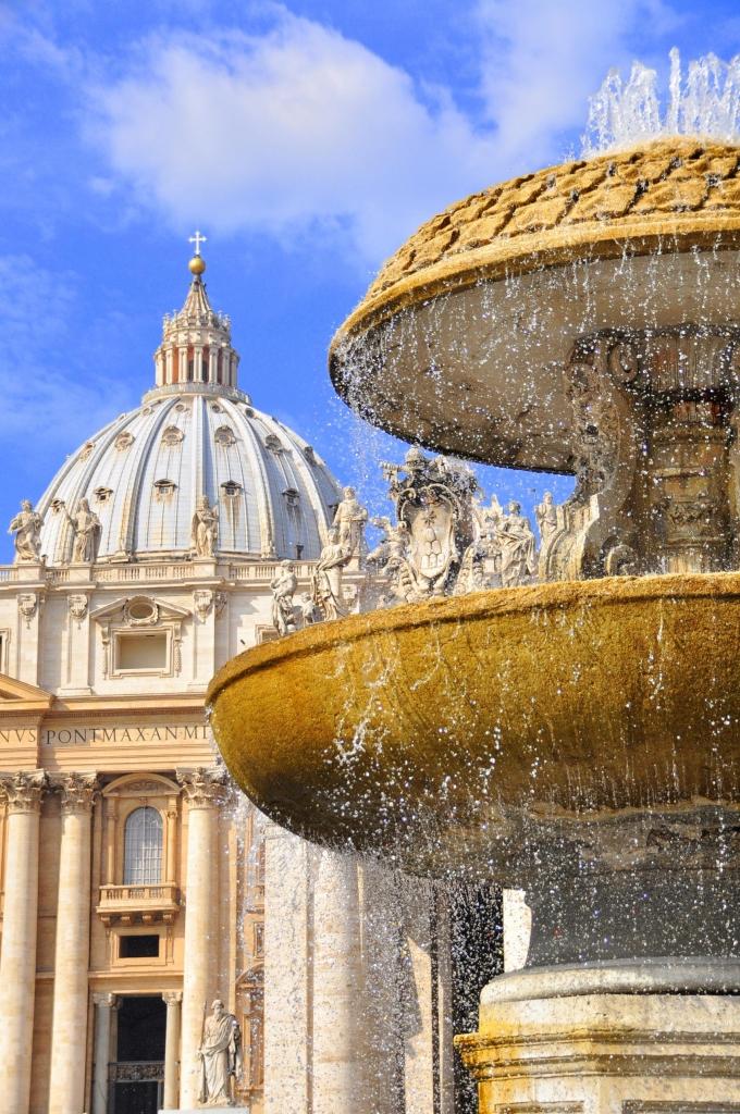 La fontana di S. Pietro di poppy