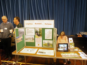 Photo: 005 The nearby Leighton Buzzard Railway attended with their publicity stand .