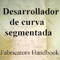 Desarrollador curva segmentada icon