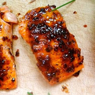 Pan Roasted Salmon With Chipotle Fig Glaze
