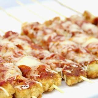 Pizza Tater Tot Skewers.