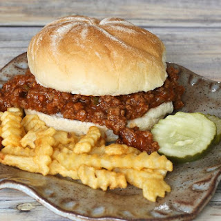 Sloppy Joe Sandwiches with Ground Beef and Sausage.