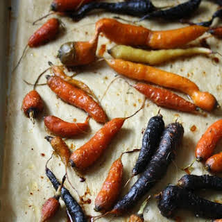 Honey Roasted Carrots with Thyme.