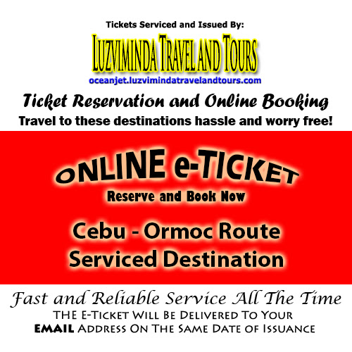 OceanJet Cebu-Ormoc Route Ticket Reservation and Online Booking