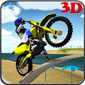 MotoCross Beach Bike Stunt 3D icon